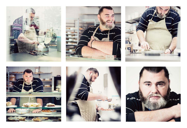 Konditor Kuchenbäcker Portrait Mann Handwerker Handwerksporait